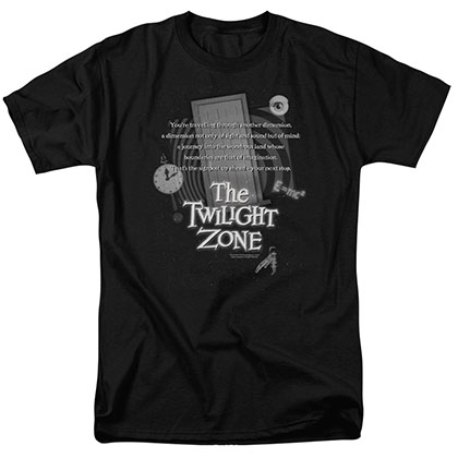 Twilight Zone Monologue Black T-Shirt