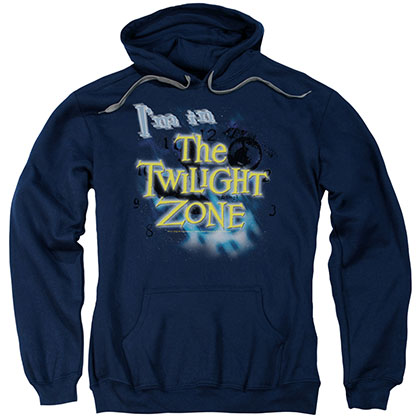 Twilight Zone I'M In The Twilight Zone Blue Pullover Hoodie
