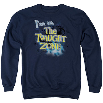 Twilight Zone I'M In The Twilight Zone Blue Crew Neck Sweatshirt