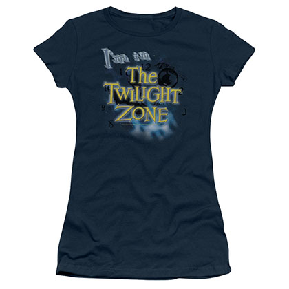 Twilight Zone I'm In The Twilight Zone Blue Juniors T-Shirt
