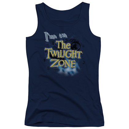 Twilight Zone I'm In The Twilight Zone Blue Juniors Tank Top