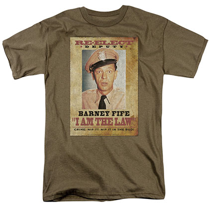 Andy Griffith I Am The Law Green T-Shirt