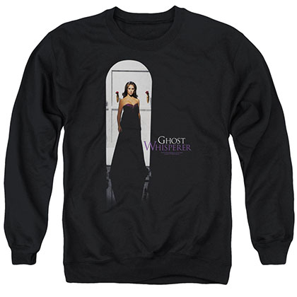 Ghost Whisperer Doorway Black Crew Neck Sweatshirt