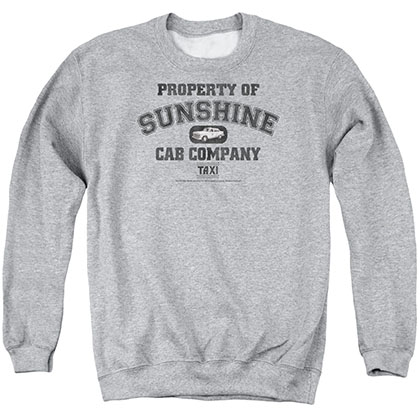 Taxi Property Of Sunshine Cab Gray Crew Neck Sweatshirt