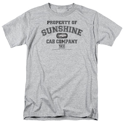 Taxi Property Of Sunshine Cab Gray T-Shirt
