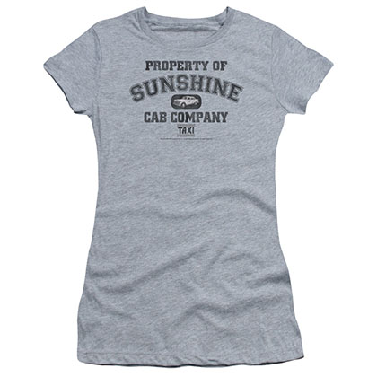 Taxi Property Of Sunshine Cab Gray Juniors T-Shirt