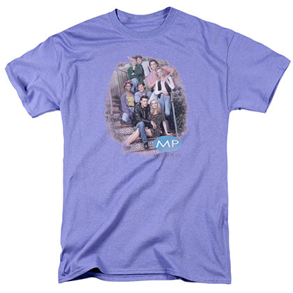 Melrose Place Orig.Cast Distressed Purple T-Shirt