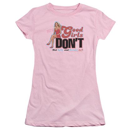 Beverly Hills 90210 Good Girls Don'T Pink Juniors T-Shirt