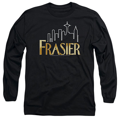 Frasier Frasier Logo Black Long Sleeve T-Shirt