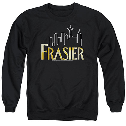 Frasier Frasier Logo Black Crew Neck Sweatshirt