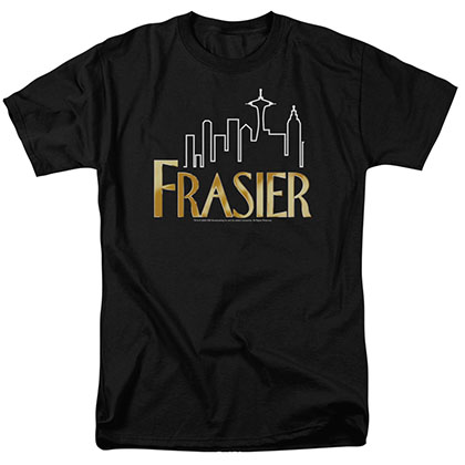 Frasier Frasier Logo Black T-Shirt