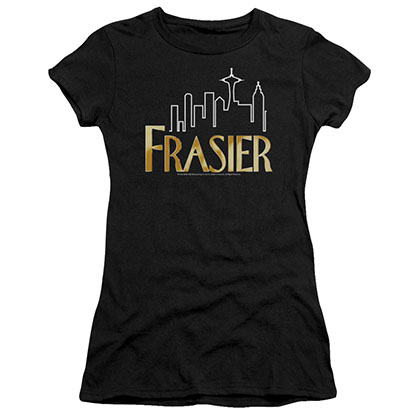 Frasier Frasier Logo Black Juniors T-Shirt