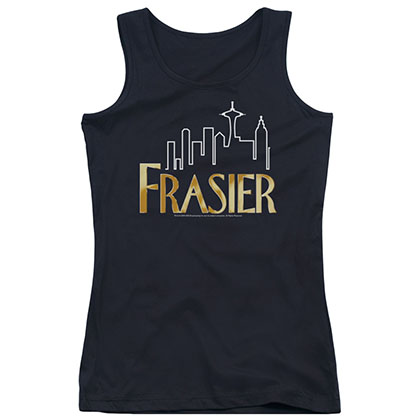Frasier Frasier Logo Black Juniors Tank Top
