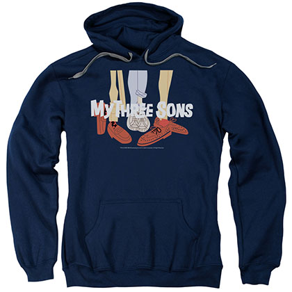 My Three Sons Shoes Logo Blue Pullover Hoodie