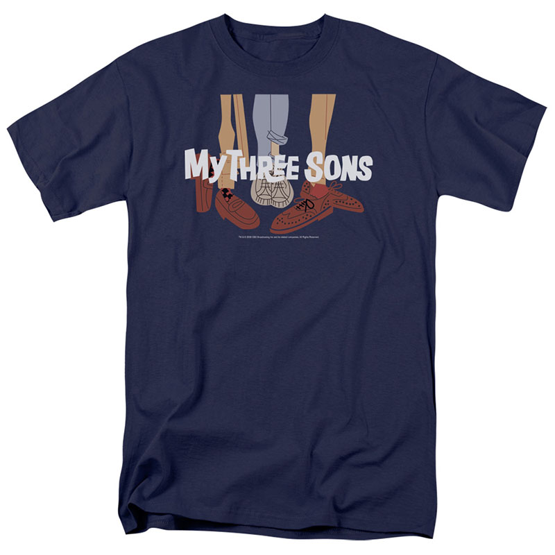My Three Sons Shoes Logo Blue T-Shirt