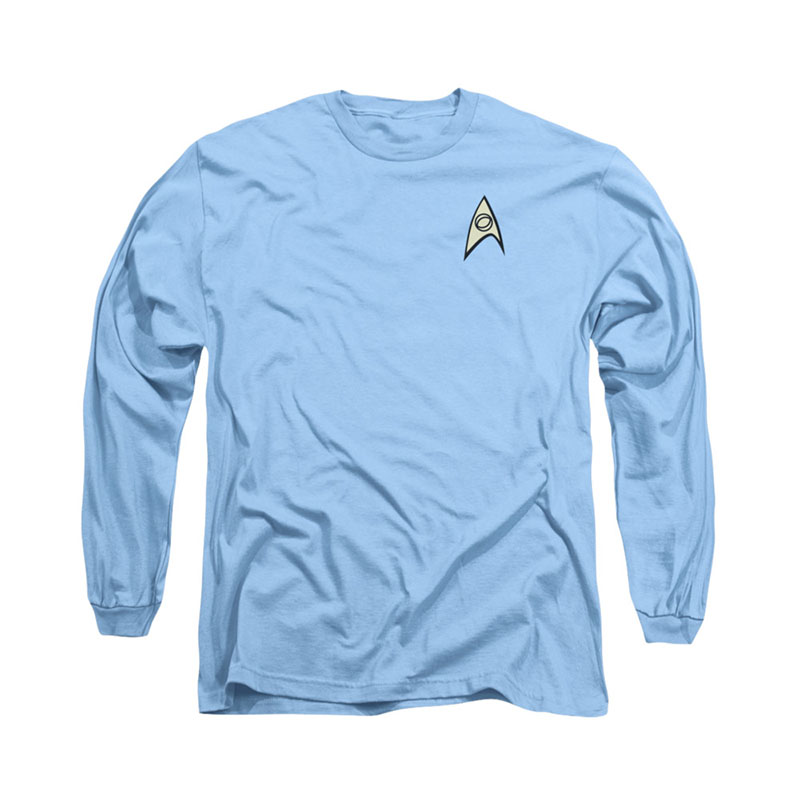 Star Trek Science Uniform Blue Long Sleeve T-Shirt ...