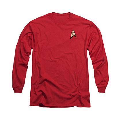 Star Trek Engineering Uniform Red Long Sleeve T-Shirt