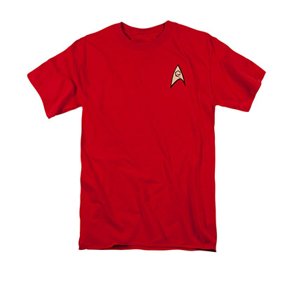 Star Trek TOS Engineering Uniform Costume Red T-Shirt