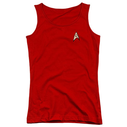 Star Trek Engineering Uniform Red Juniors Tank Top