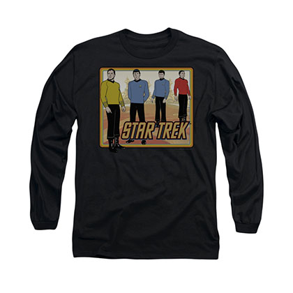 Star Trek TOS Classic Black Long Sleeve T-Shirt