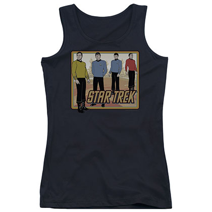 Star Trek Classic Crew Black Juniors Tank Top