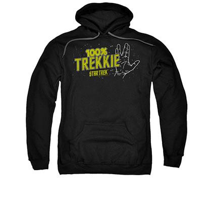 Star Trek 100% Trekkie Black Pullover Hoodie