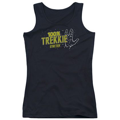 Star Trek 100% Trekkie Black Juniors Tank Top