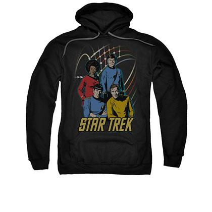 Star Trek TOS Warp Factor 4 Black Pullover Hoodie