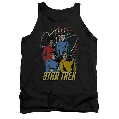Star Trek Warp Factor 4 Black Tank Top