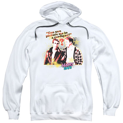 Happy Days No Cardigans White Pullover Hoodie