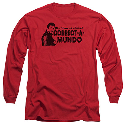 Happy Days Correct A Mundo Red Long Sleeve T-Shirt