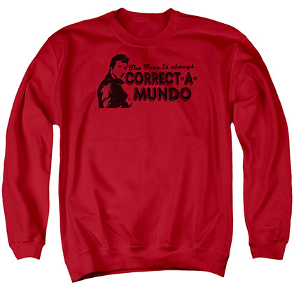 Happy Days Correct A Mundo Red Crew Neck Sweatshirt