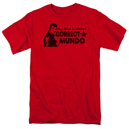 Happy Days Correct A Mundo Red T-Shirt