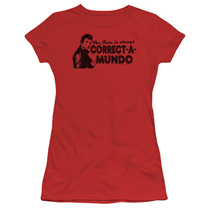 Happy Days Correct A Mundo Red Juniors T-Shirt