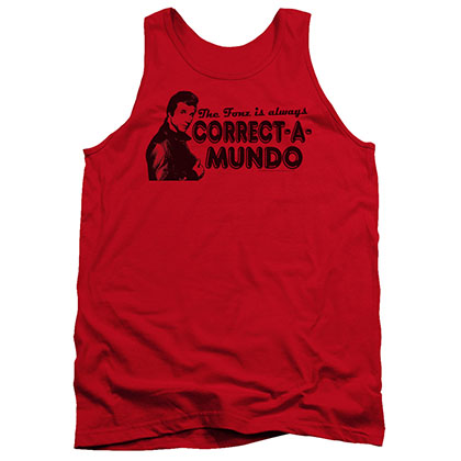 Happy Days Correct A Mundo Red Tank Top
