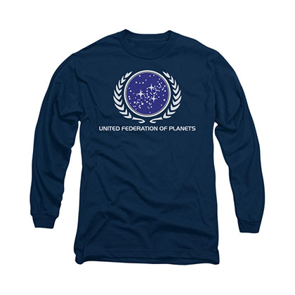 Star Trek United Federation Blue Long Sleeve T-Shirt