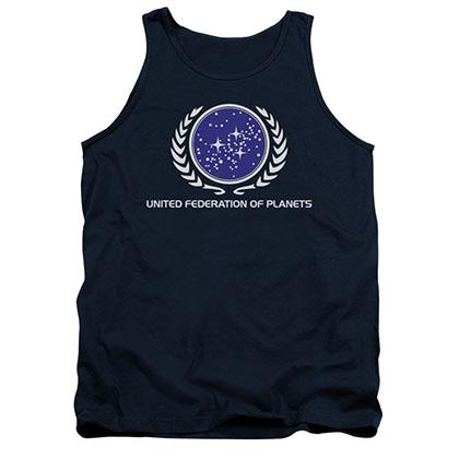 Star Trek United Federation Logo Blue Tank Top