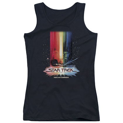 Star Trek Motion Picture Black Juniors Tank Top