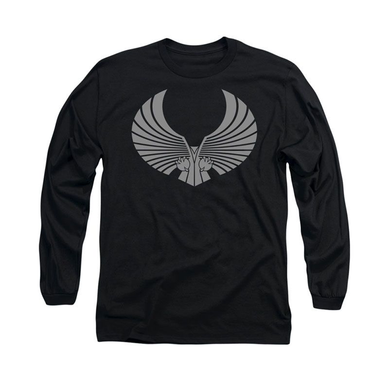 Star Trek Romulan Logo Black Long Sleeve T-Shirt