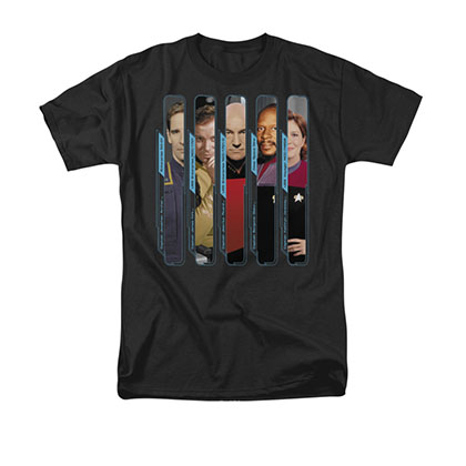 Star Trek The Captains Black T-Shirt