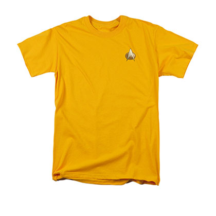 Star Trek TNG Engineering Uniform Costume Yellow T-Shirt