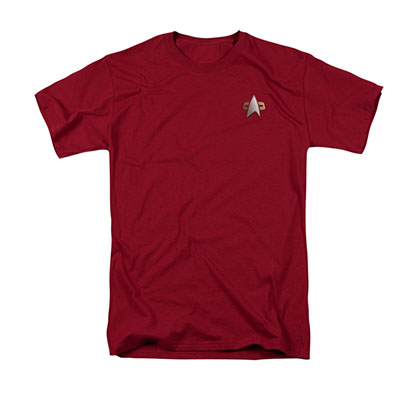 Star Trek Men's Red DS9 Command Uniform Costume Tee Shirt