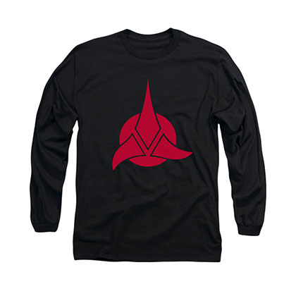 Star Trek Klingon Logo Black Long Sleeve T-Shirt