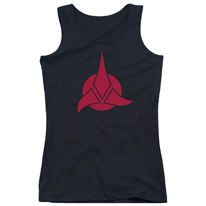 Star Trek Klingon Logo Black Juniors Tank Top