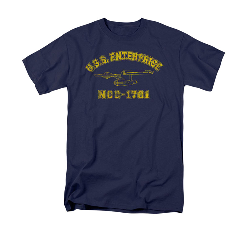 d2b1665a Star Trek USS Enterprise Athletic Navy T-Shirt