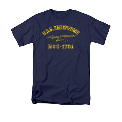 Star Trek USS Enterprise Athletic Navy T-Shirt