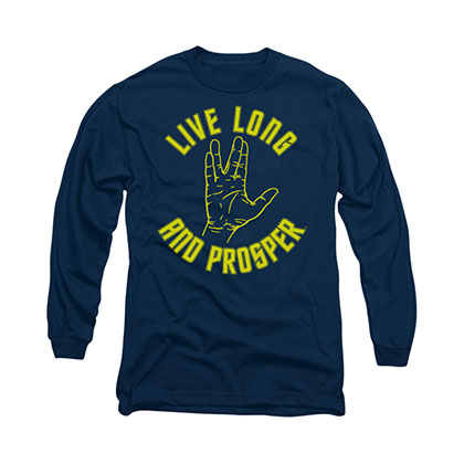 Star Trek Live Long And Prosper Blue Long Sleeve T-Shirt