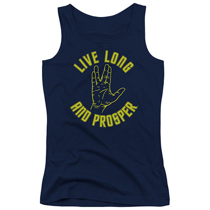 Star Trek Live Long And Prosper Blue Juniors Tank Top