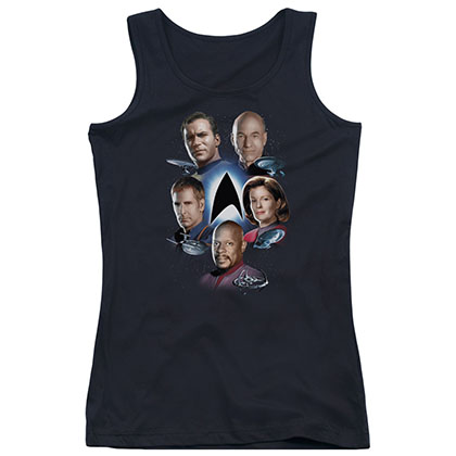Star Trek Finest Black Juniors Tank Top