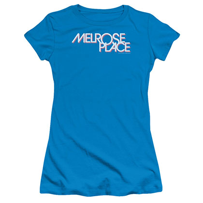 Melrose Logo Blue Juniors T-Shirt